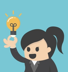 business woman get the idea vector image