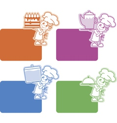 chef stickers vector image