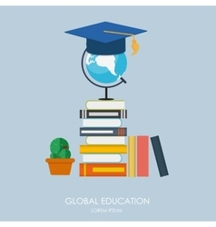 Global education concept trends and innovation in vector