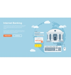 Internet banking vector