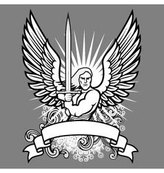 heraldic angel vector image