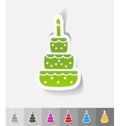 Realistic design element cake vector