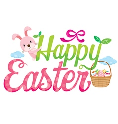 Happy easter letter decorating vector