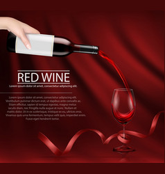 A hand holding a glass wine vector