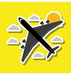 Airplane design editable vector
