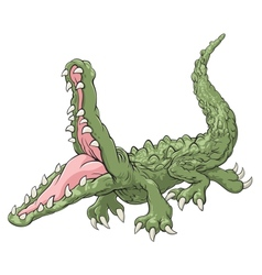 Attacking crocodile vector