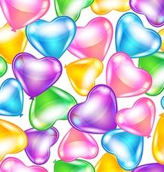 Balloons in shape of heart vector