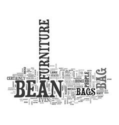 bean bag furniture text word cloud concept vector image