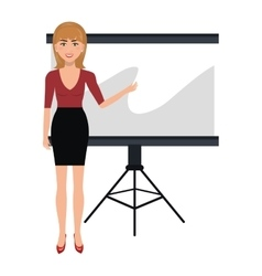 Business person training with blackboard vector