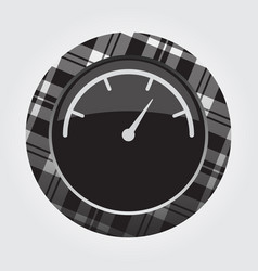 Button white black tartan - gauge dial symbol vector