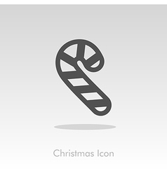 Christmas candy cane icon vector