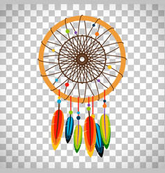 Dream catcher with feathers and beads vector