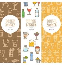 Drink Banner Flyer Vertical Set vector image vector image