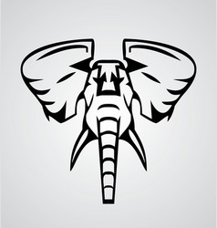 Elephant Tribal vector image
