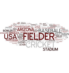 Fielder word cloud concept vector
