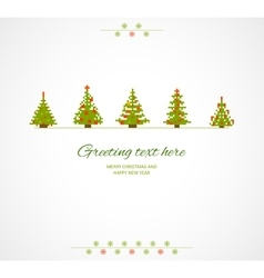 Fir-trees winter background vector image vector image