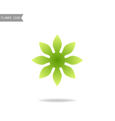 flower floral logo flat icon object on a white vector image vector image