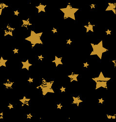 grunge star patter vector image