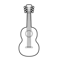 Guitar icon outline style vector