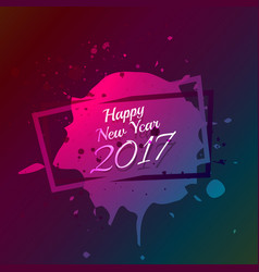 Happy new year text written on ink splatter vector