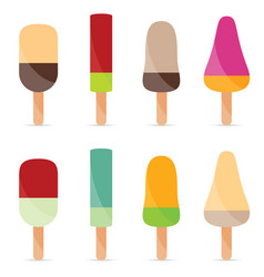 ice cream flavour food vector image