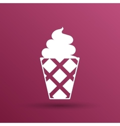 Ice cream logo icon frozen food vector