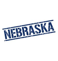 Nebraska blue square stamp vector