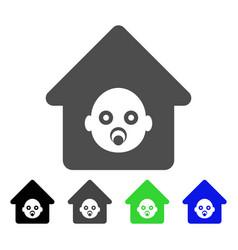 Nursery house icon vector
