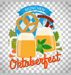 Oktoberfest poster on transparent background vector