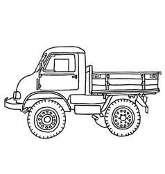 Small truck -unimog vector