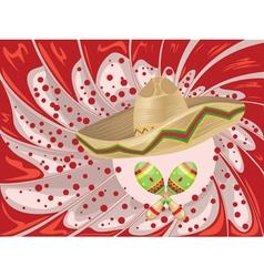 Sombrero and Maracas2 vector image