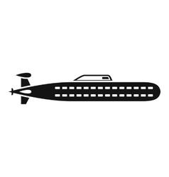 Submarine icon simple style vector