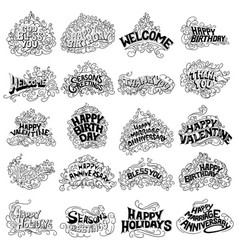 Tattoo art design of collectio vector