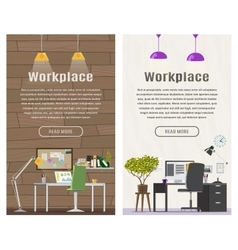 Two Vertical banner for web design vector image