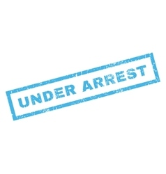 Under arrest rubber stamp vector