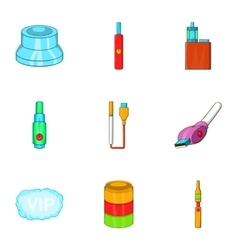 Tobacco icons set cartoon style vector image