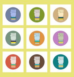 Flat icons set of ukrainian patriotism items vector