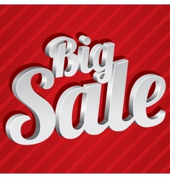 Big sale tag  silver 3d sticker icon vector