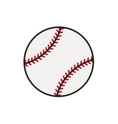 Baseball line art icon on white background vector
