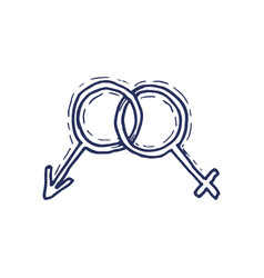 Gender symbol symbols of men and women vector