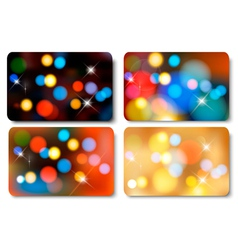 Set of colorful abstract gift cards vector