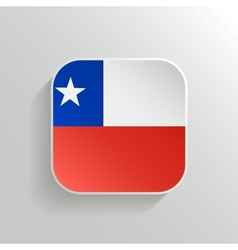 Button - chile flag icon vector