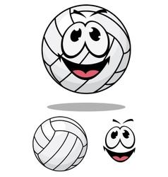 Happy cartoon volleyball vector image