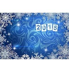 2015 year greeting card vector image