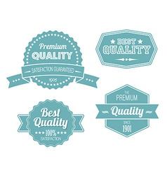 Old blue retro vintage labels vector image