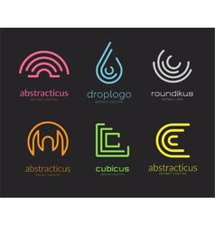 Abstract logo set template for branding and vector