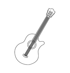 Guitar isolated vector