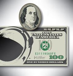 100 Dollar manhole vector image