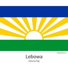 National flag of lebowa with correct proportions vector