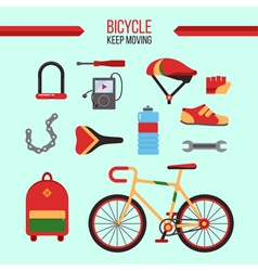Bicycle kit keep moving vector